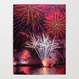 Fireworks on Sydney Harbour Poster