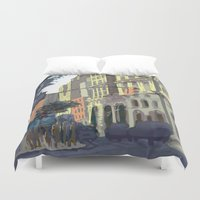broadway Duvet Covers featuring 73rd & Broadway by Aaron Lampell