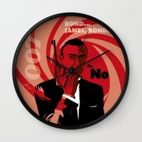bond Wall Clocks featuring Bond by Nile