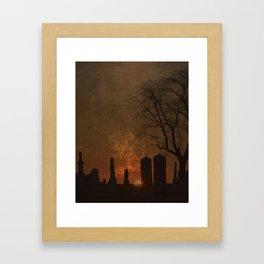 THE BEGINNING OR THE END? Framed Art Print
