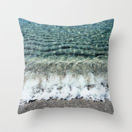 Clear Captiva Waves Throw Pillow