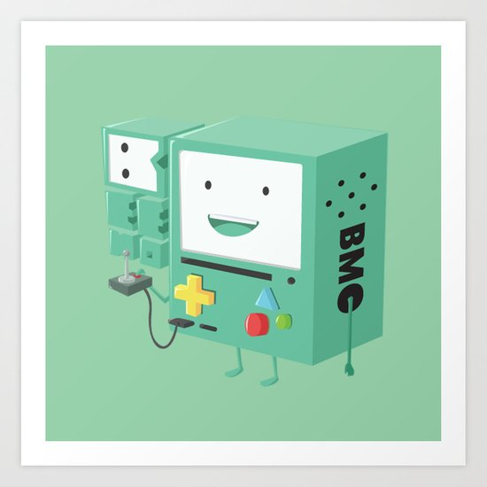 Adventure Time - Beemo ( in - style ) Art Print