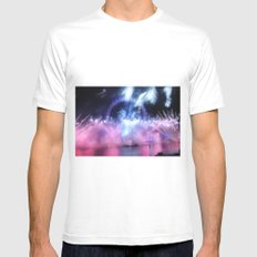 New Year's Eve at London Eye Mens Fitted Tee MEDIUM White