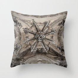 Sedlec Ossuary Ceiling Throw Pillow