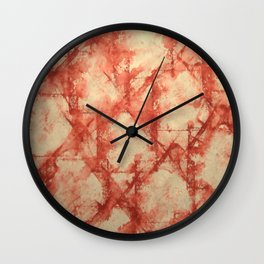 Red Splashes Wall Clock