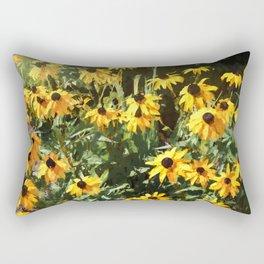 Black-eyed Susan Yellow Flowers Rectangular Pillow
