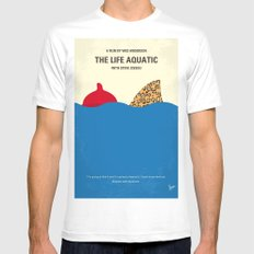 No774 My The Life Aquatic with Steve Zissou minimal movie poster Mens Fitted Tee MEDIUM White