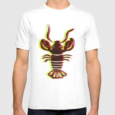 Lobster Confusion MEDIUM Mens Fitted Tee White