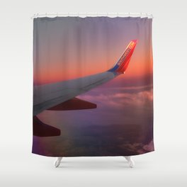 Over the Sunset Shower Curtain