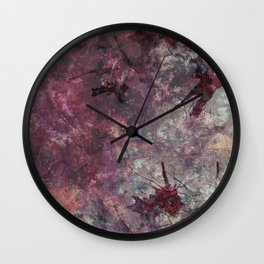 watercolors with splashes Wall Clock