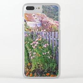 Pescadero Garden Clear iPhone Case