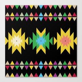 Folk black Canvas Print