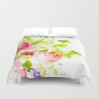card Duvet Covers featuring Floral Card by Svitlana M