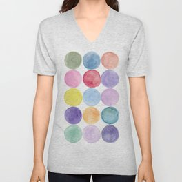 dotted and well organized Unisex V-Neck