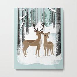 Winter Deer by Andrea Lauren  Metal Print