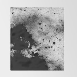 War - Abstract Black And White Throw Blanket
