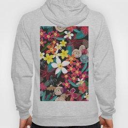 Botanical Flowers Colorful Pattern Hoody
