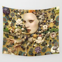 surrealism Wall Tapestries featuring pop surrealism, fine art by store2u