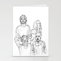 one direction Stationery Cards featuring One Direction by Cécile Pellerin