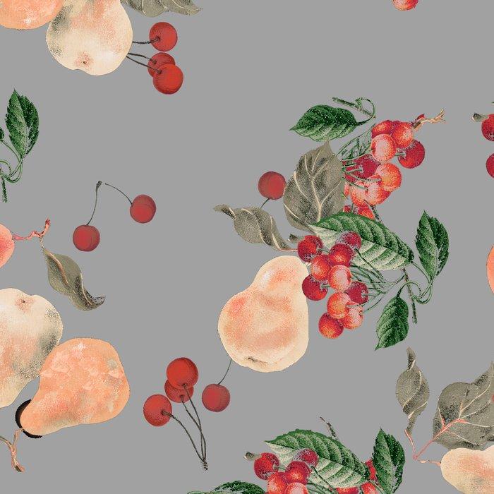 cherries and pears winter Leggings