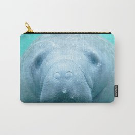 Watercolor Manatee 01, Three Sisters Spring, Crystal River, Florida Carry-All Pouch