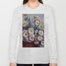 "Claude Monet ""Chrysanthemums"", Vétheuil, 1878 Long Sleeve T-shirt"