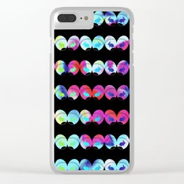 Colorful easter eggs and rabbits Clear iPhone Case