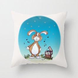 Bunny Diggins Throw Pillow