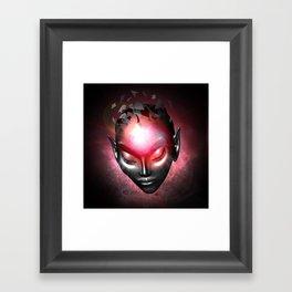 Alien Mental System Framed Art Print