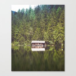 Cottage in the Forest (Color) Canvas Print