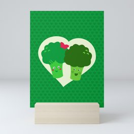 Broccoli in love Mini Art Print