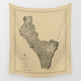 Map of West Point 1883 Wall Tapestry