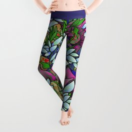 Floral Abstract Artwork G464 Leggings
