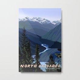North Cascades National Park, Vintage Metal Print