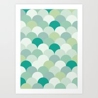 scales Art Prints featuring SCALES by Sarah Stark