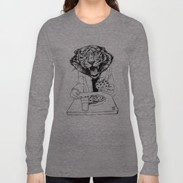tiger eating cookie Long Sleeve T-shirt