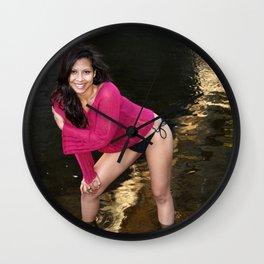 Hispanic Beauty Wall Clock