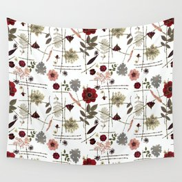 Red Anemones and Roses Wall Tapestry