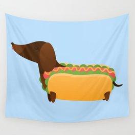 Wiener Dog in a Bun Wall Tapestry