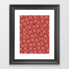 Red Orange Eyes Framed Art Print