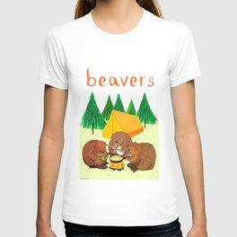 Beavers Illustration T-shirt