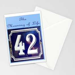 The Meaning of Life Stationery Cards