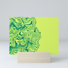 Green Lime Agate Mini Art Print