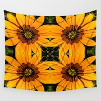 western Wall Tapestries featuring Western Cape Daisies by Louisa Catharine Art And Patterns