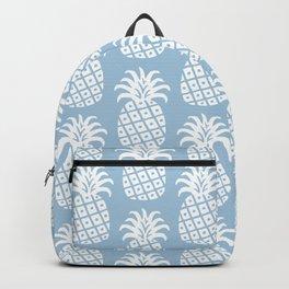 Mid Century Modern Pineapple Pattern Light Blue Backpack