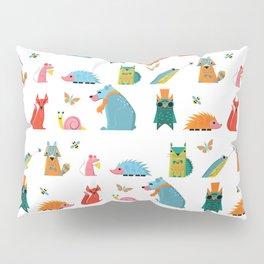 Scandinavian woodland animals pattern print Pillow Sham