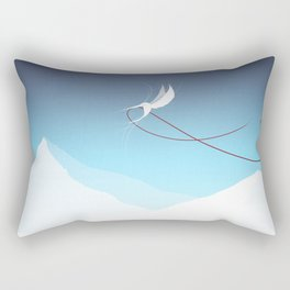Hummingbird and a red thread Rectangular Pillow
