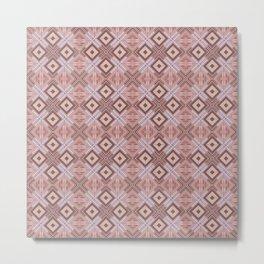 color cocoa, plaid Metal Print