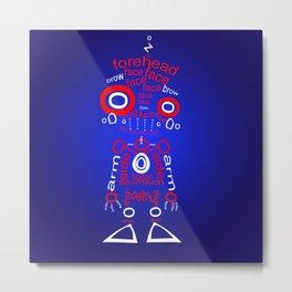 Robot Text Metal Print