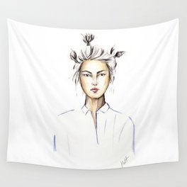 Asian girl Wall Tapestry